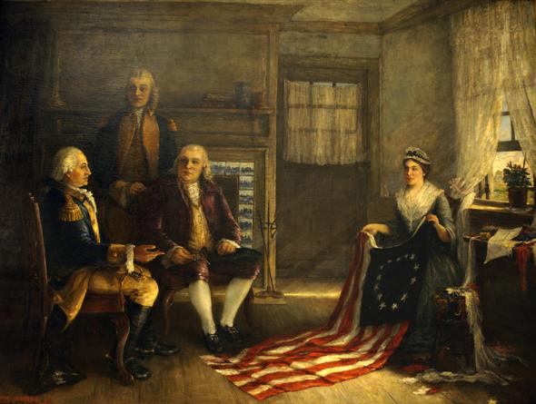 Nike Betsy Ross controversy really started over 200 years ago when Betsy Ross sewed a flag for 13 founding colonies of the U.S.A.